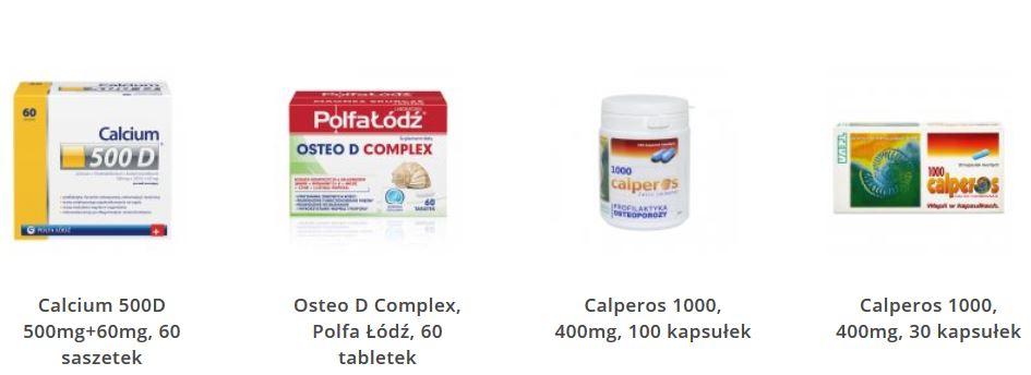 Preparaty do zapobiegania i leczenia osteoporozy